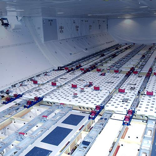 Boeing 747 with lower deck cargo handlind system | TELAIR
