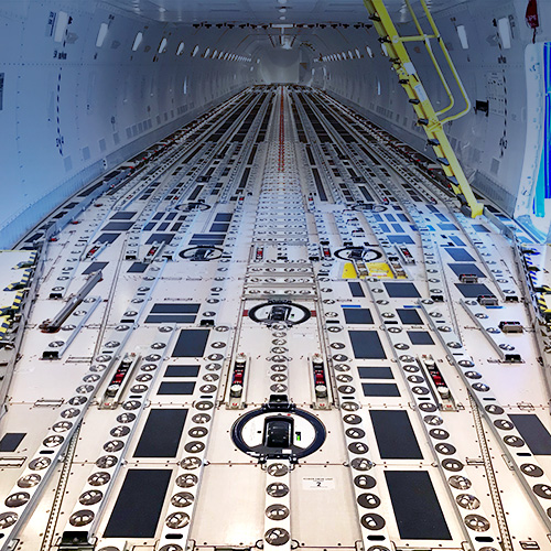 Boeing 747 with main deck cargo handlind systems | TELAIR