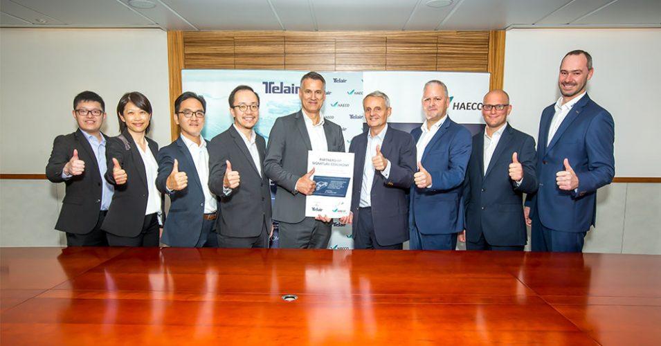 TELAIR and HAECO employees celebrating their partnership | TELAIR