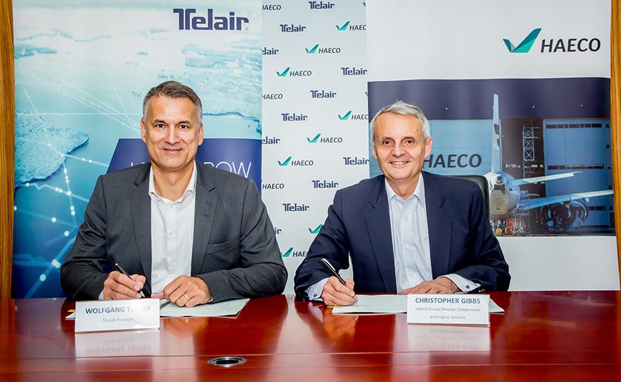 Wolfgang Tatzer, President of TELAIR, and Christopher Gibbs, HAECO | TELAIR