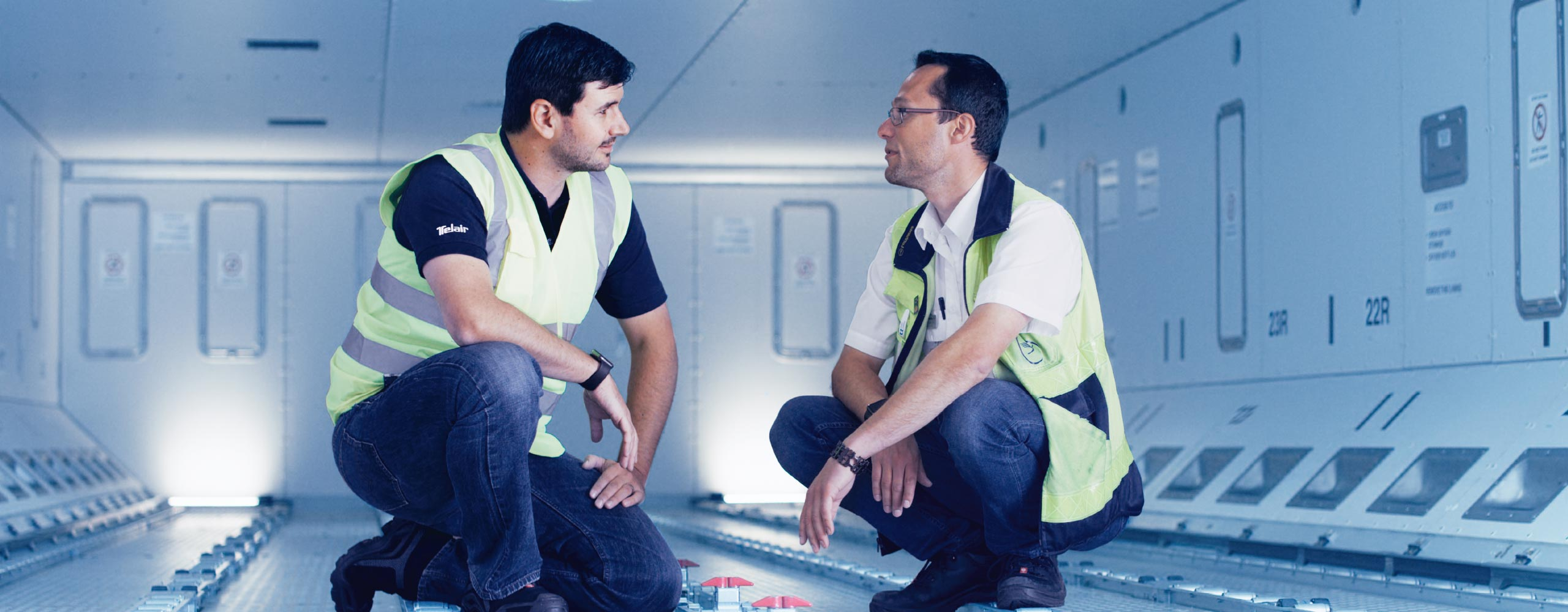 Employees working in the Technical Service Support | TELAIR