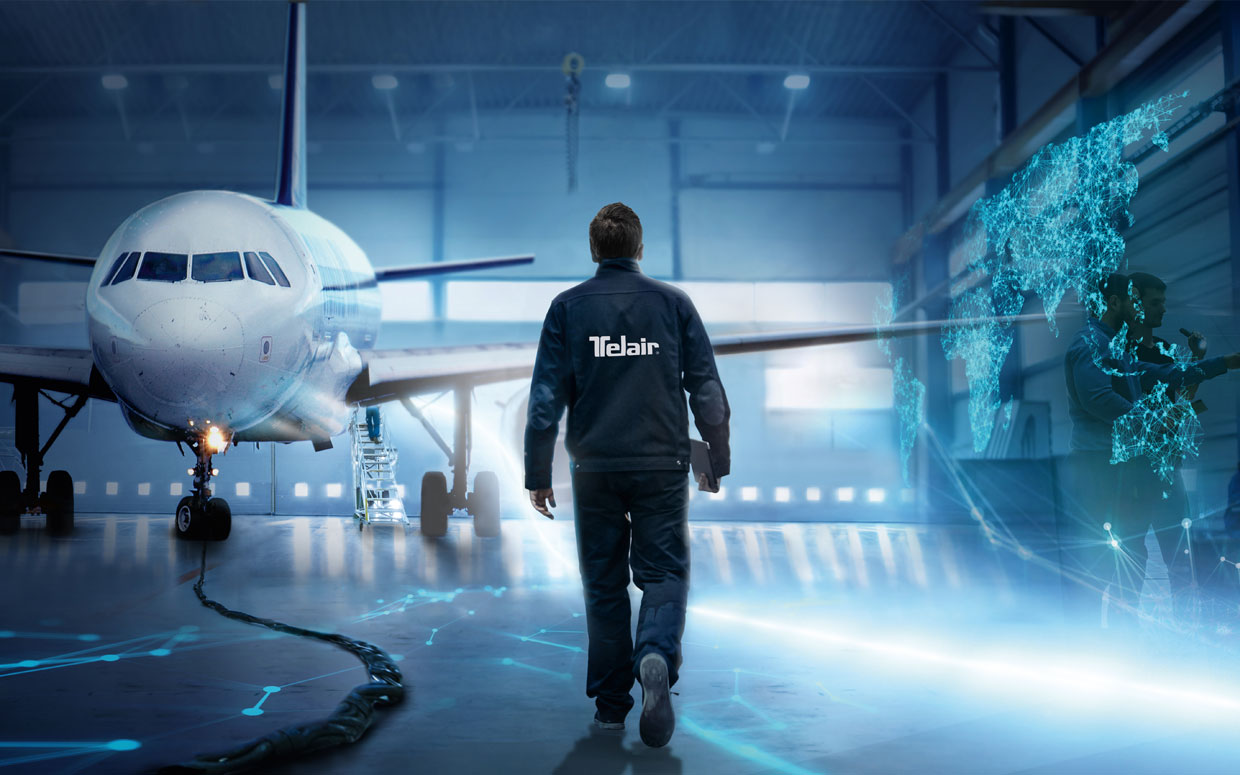 Aircraft and employee | TELAIR